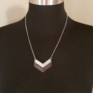 Silver Copper Tone Chain Necklace